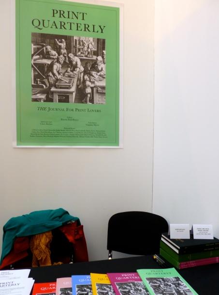 Print Quarterly stand at the RA Print Fair